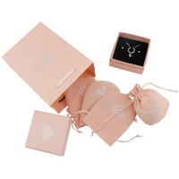 Jewelry Boxes Taschen Rosa Halsketten Ringe Ohrringe Schmuck Set Box Tasche Cajas De Regalo Geschenkboxen Caixas Para Presente Großhandel 0663WH