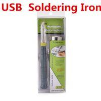 Professionnel USB Fer à Souder Conseils 5 V 8 W Outils Électroniques Tactile Avec Indicateur Lumière Industrielle Fournitures MRO Soudage ZD-20U
