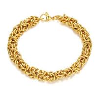 الرجال الفاخرة رائع الذهب التيتانيوم الصلب الإسورة سلسلة الشرير كول سوار هدية