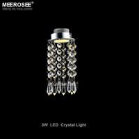 Modern Mini Kristal Avize Işık Fikstürü Kristal Lamba Kristal cilalar Işık Koridor Koridor Sundurma Merdiven için uydurma