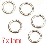 الانتقال الاسترليني الفضة مطلي حلقات القفز ديي الحديد معدن جولة 1MM سميكة جديدة الأزياء والمجوهرات بالجملة النتائج 5MM 7MM 500G مجانا الشحن