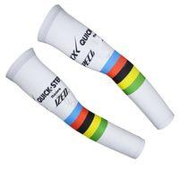 2015 ETIXX QUICK STEP PRO TEAM UCI BIANCO Q03 BRACCIO CICLISMO SCALDANTE BICICLETTA OVERSLEEVES TAGLIA: S-XXL