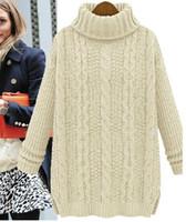 2016 горячая шерсть трикотажные Женские свитера и пуловеры негабаритных кашемировый свитер женщин зима Рождество джемперы водолазка MY1