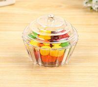 Limpar Mini Bolo Estande Cupcake Favor Caixa de Doces De Aniversário De Casamento Recipiente De Plástico Partido Treat Food Boxes Favores Embrulho de Presente