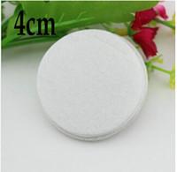4см (1,5 дюйма) белые круглые войлочные тканевые прокладки для цветка нетканых тканей подушки DIY цветочные аксессуары1000 шт. / Лот