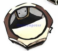 السفر في الهواء الطلق طوي الكلب قفص منزل الحيوانات الأليفة سرير بيت الكلب خيمة أقلام قفص منتجات الحيوانات الأليفة الكلب اللوازم 72x30x45cm