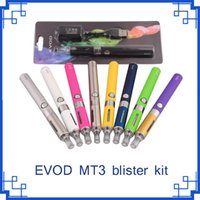 Evod MT3 blister starter kits E-cigarro kit mt3 tanques e cigarro EVOD atomizador Clearomizer Evod bateria E-cigarro Kit VS starter ego