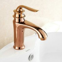 Free Shipping Rose Gold Finishing Taps Solid Copper Basin Fa...