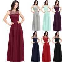 Hot Burgundy Navy Blue Mint Chiffon Bridesmaid Dresses For S...