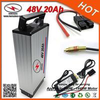 Задняя стойка стиль электрический велосипед батарея 48 В 20AH велосипед литий-ионный аккумулятор для 1000 Вт Эмото / скутер Бесплатная доставка