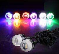 2x Alto brillo 18mm Eagle Eye 5630 3 LED Luz de conducción diurna Luz de advertencia Faros antiniebla Luz de reserva Lámpara de la cabeza del coche de la motocicleta