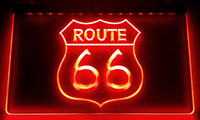 LS010 Tarihi Route 66 Mother Road LED Neon Duvar Işık Sign
