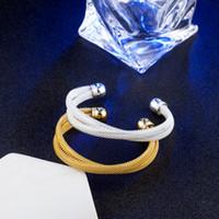 10шт/много горячей подарок заводская 925 серебряный Шарм браслет DIY мода диких ткачество 18K золото браслет ювелирные изделия 1833