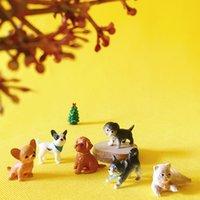 30 pezzi / cane carino / gatto / miniature / bella / gnomo da giardino fata / decorazione terrario / figurine carino / forniture fai da te / home decor / statua