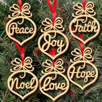 Рождественское письмо дерево сердце пузырь шаблон орнамент Рождественская елка украшения дома фестиваль украшения висит подарок 6 шт. в сумке