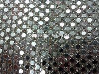 Strass trasparente 110 X 45 cm / foglia con maglia in alluminio argento Strass cristallo Hotfix per montatura in strass Motif