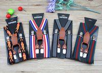 Kids Suspenders Fashion Clip-on Y-Back Boys Girls Elastic Bodas Suspender Tirantes Cinturón Niño Bebé Estilo británico Suspender 15 Estilo 3658