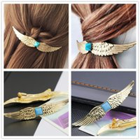 10 unids / lote Buena Calidad Europa Mujeres Golden Angels Pinza de Pelo de Pelo Jewerly Hairgrip Girls Barrettes Horquilla Accesorio Head wear para Regalo