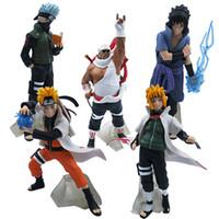 Personnages de dessin animé 32 style Naruto de la génération 5 à faire à la main articles d'ameublement de poupées Anime Modèle entourant