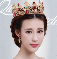 2016 a frappé Bride crecy yao grande reconstitution des voies antiques anneau et la mariée mariée Couronne couronne baroque les accessoires de cheveux de la reine