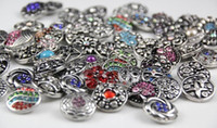 JACK88 50pcs lot Hot Many Styles Rhinstone Snaps Button for ...
