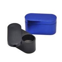 소매 / 도매 최신 유연한 휴대용 알루미늄 금연 파이프 금속 흡연 파이프 미니 버섯 담배 담배 파이프