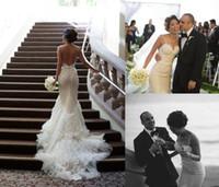 2015 винтажное свадебное платье русалка с спагетти ремень часовни поезд створки кружева свадебное платье многоуровневые складки аппликации свадебное платье без спинки