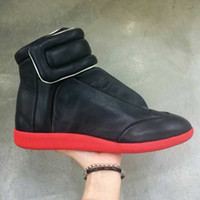Margiela Promotion!! Fashion Sneakers Genuine Leather Hi- Str...