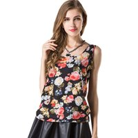 Nuevo 2018 Summer Casual Tank Top gasa sin mangas chaleco sin mangas de las mujeres camiseta raya cuadros floral camisola blusa femenina