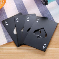 검은 맥주 병 오프너 포커 놀이 카드 스페이드 바 도구의 에이스 소다 캡 오프너 선물 주방 가제 도구