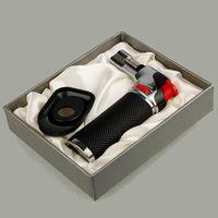 XL 금속 재충전 부탄 토치 라이터 방수 제트 화염 주방 Brulee 요리 마이크로 토치 라이터 도구 액세서리 가스가 없습니다