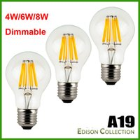 Dimmable No- Dimmable 4 6 8W E27 Warm White Cool White A60 A1...