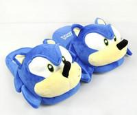 Sonic Slippers Blue Pluche Doll 11 Inch Volwassen pluche Sonic Slippers