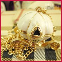 [SEKKES] Бесплатная доставка смешанная мода старинные тыквы перевозки медальон кулон ожерелье Jewe