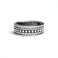 925 Sterling Silver wide band Ring With Retro Stylish Gather...