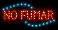 الكلمات الاسبانية لا يدخن النيون مخصصة أدى ضوء إشارة شعار NO FUMAR علامة لافتة للنظر شعارات حجم داخلي 19 * 10 بوصة