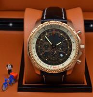 New Stley Big Uhr 44mm Mechanische Uhr goldenen super große Anschlag begrenzt Weiß Herrenuhr Edelstahl Uhren Armbanduhr Männer Dial