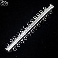 Monili liberi di trasporto che fanno braccialetti della collana di DIY che trovano 12 foro del foro placcato oro argento scorrevole blocco tubo Catenacci monili che fanno, DIY