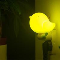 Kreative 4 Farben Nachtlampe LED Nachtlicht 0.6W Vogelnachtlicht LED Lampen Wandlicht Weihnachtsdekoration kid411