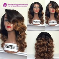 Hot Selling Ombre T1b 4 Brown Color Full Lace Wig Glueless B...