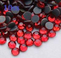 1440pcs 10ss 3mm ljus siam heta fix rhinestones pärlor för syning