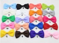 7cm * 4 cm Mini-Ribbon Haarbogen mit Clip für Mädchen und Frau Haarschmuck Boutique Ribbon Bows Clip Haarnadeln für Kind 60pcs,