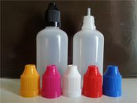 Schwarze Kappe 100pcs 100ml leere Plastik-PET-Tropfflaschen mit Kindersichere Kappe Lange dünne Tropfflaschen für E-Flüssigkeit
