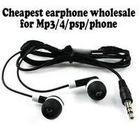 Universal أرخص سماعة الأذن السوداء سماعة لآيفون 4 3 جرام 5 سماعات mp3 mp4 3.5 ملليمتر الصوت dhl فيديكس مجانا
