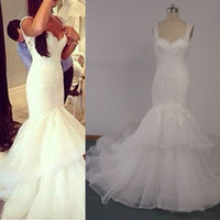 2015 mermaid wedding dresses v neck appliques lace backless covered button court train bridal gowns inspired by steven khalil real images