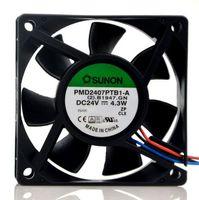 Original SUNON PMD2407PTB1-A 24V 4.3W 7CM 7025 3-fach Inverter-Kühlerlüfter