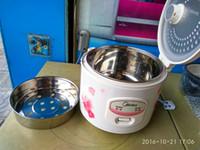4L المحمولة 8cup طبخ الأرز YJ408J 220V غير عصا الفولاذ المقاوم للصدأ وعاء الداخلية المواقد الأرز شراء للبيع الخبز على البخار البيض كعكة الأرز كعكة السمك