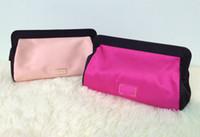 2017 ماركة مصمم النساء جلد طبيعي أكياس التجميل الجمال ماكياج الحقيبة شيك المحمولة السفر القابض الزينة اثنين من الألوان