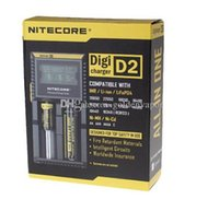 최고 품질 Nitecore D2 디지털 배터리 충전기 유니버셜 지능형 LCD 디스플레이 소니 VTC5 18650 30A에 대 한 삼성 전자 LG 18650 배터리