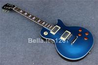 OEM instrument de musique le plus populaire guitare standard guitare électrique avec la couleur de scintillement bleu foncé, livraison gratuite